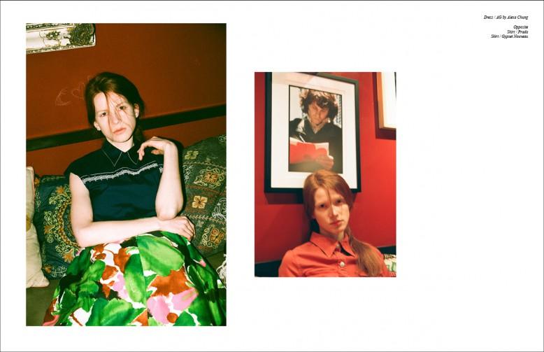 Left Shirt / Prada Skirt / Gypset Nouveau Right Dress / AG by Alexa Chung