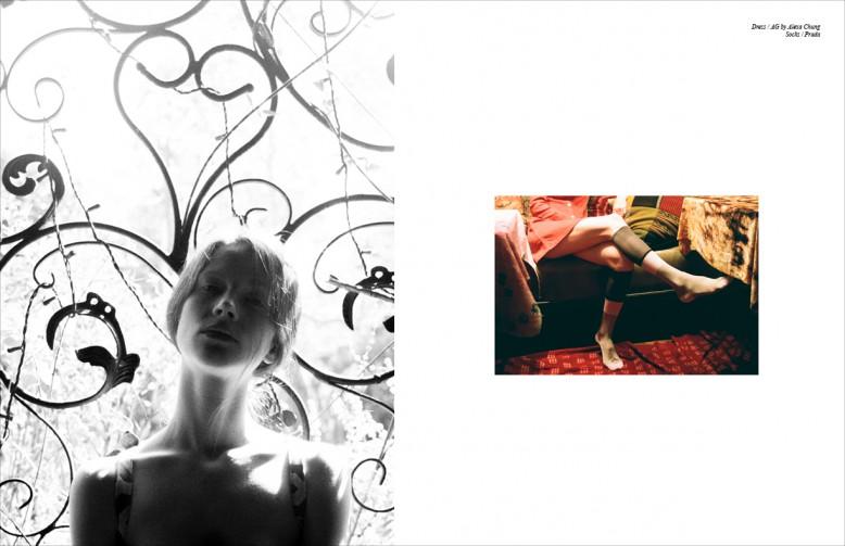 Right Dress / AG by Alexa Chung Socks / Prada