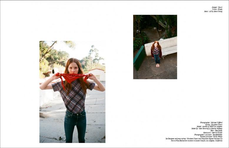 Jumper / Gucci T-shirt / Prada Jeans / AJ by Alexa Chung