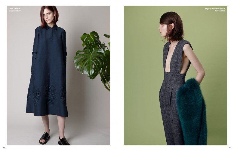 Dress / Rochas Sandals / Marni Opposite Jumpsuit / Barbara Casasola Stole / MSGM