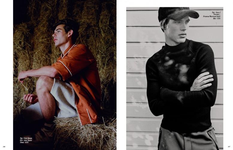Top / Umit Benan Kilt / Alan Taylor Shoes / KTZ Opposite Top / Juun.J Trousers / Vivienne Westwood MAN Hat / COS