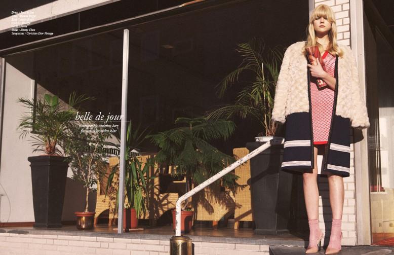 Dress / Paul & Joe Coat / Malene Birger. Ring / Maria Black Clutch / Vintage Socks / Falke Shoes / Jimmy Choo Sunglasses / Christian Dior Vintage