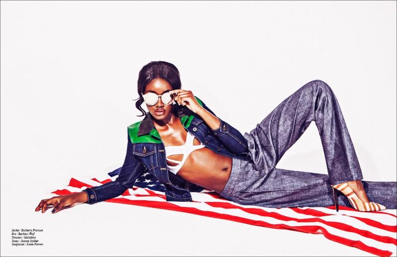 Jacket / Burberry Prorsum Bra / Reckless Wolf Trousers / MaxMara Shoes / Joanne Stokker Sunglasses / Linda Farrow