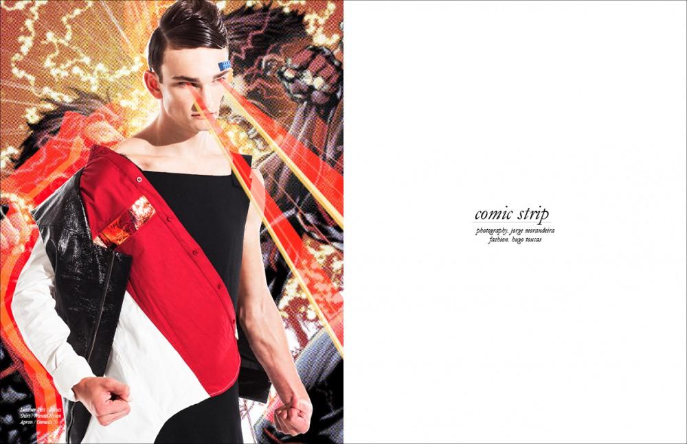 Leather Vest / Julius Shirt / Wanda Nylon Apron / Genesis