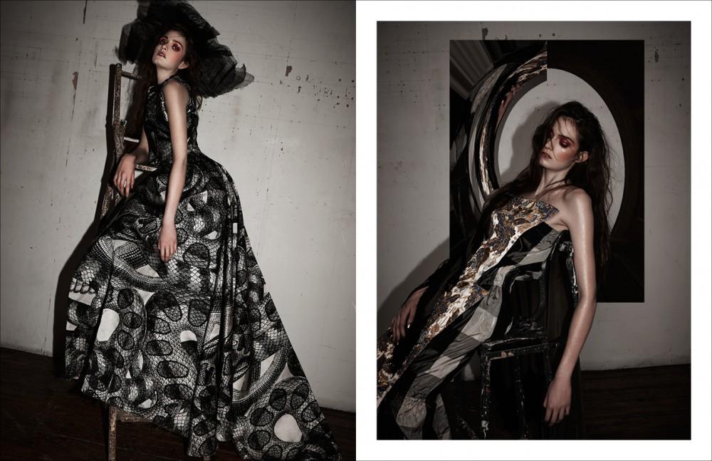 Dress / Giles Hat / Gigi Burris archive Opposite Dress / Vivienne Westwood