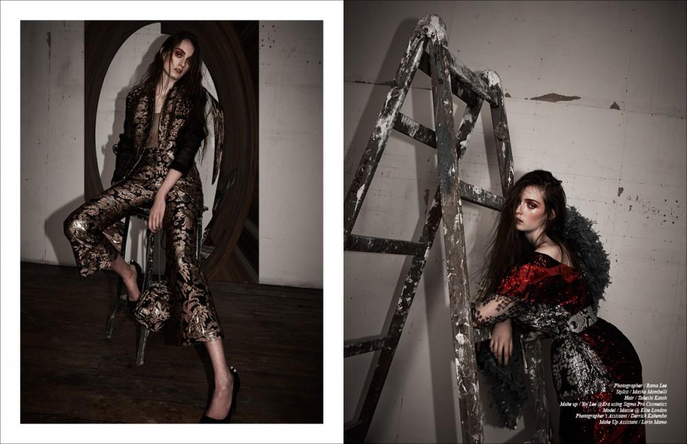 Total look / Lanvin Opposite Top, skirt & belt / Lanvin Cape / Vivienne Westwood
