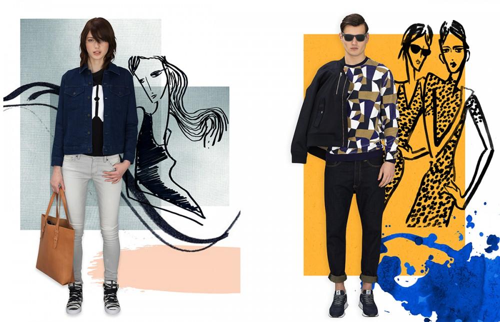 Jean Jacket / Levi's Top / Levi's Jeans / Ralph Lauren Denim & Supply Shoes / Supra Bag / Levi's Jack wears Jacket / WeSC Jumper / Villain Jeans / Levi's Shoes / HOGAN Glasses/ Ray-Ban