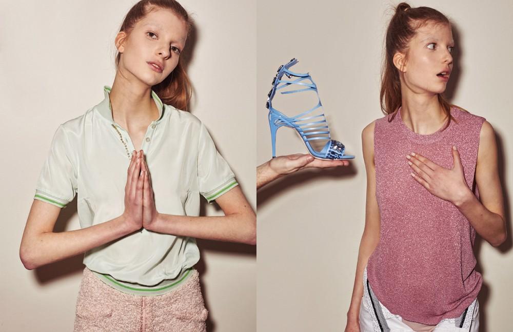 Shirt / Patrizia Pepe Skirt / Chanel Opposite Top / Zadig & Voltaire Collection Trousers / IKKS Sandal / Fendi