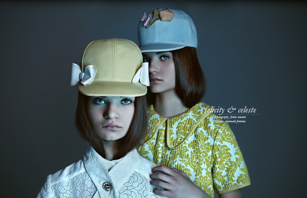 Felicity wears Shirt / Up Love It Hat / Francesco Ballestrazzi Celeste wears Dress / Vivetta Hat / Francesco Ballestrazzi