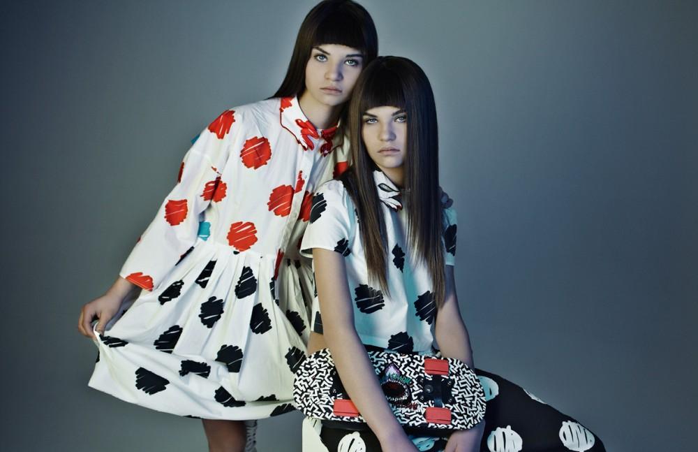 Felicity wears Dress / Vivetta Sneakers / Adidas Celeste wears Dress / Vivetta Skate Bag / Salar