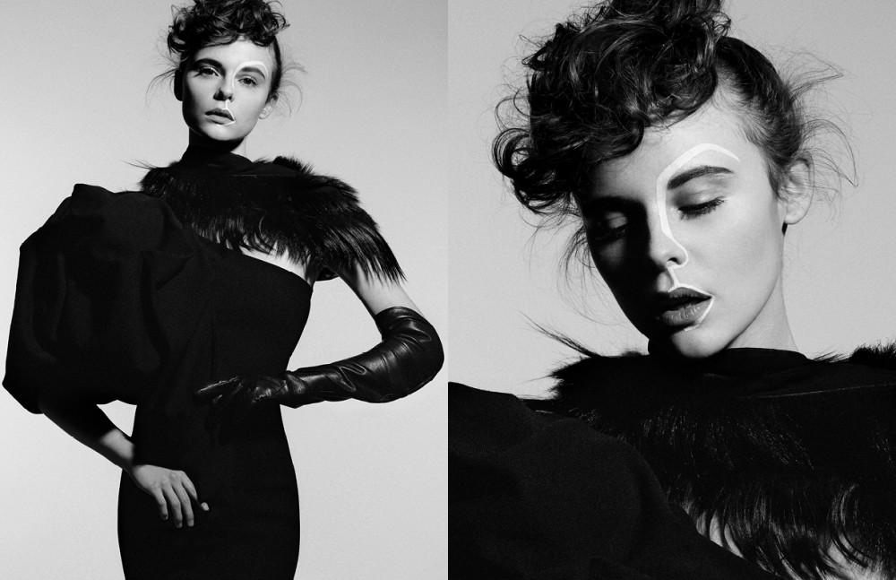 Dress / Aqua london Gloves / Aristide Aristide Collar / Vintage