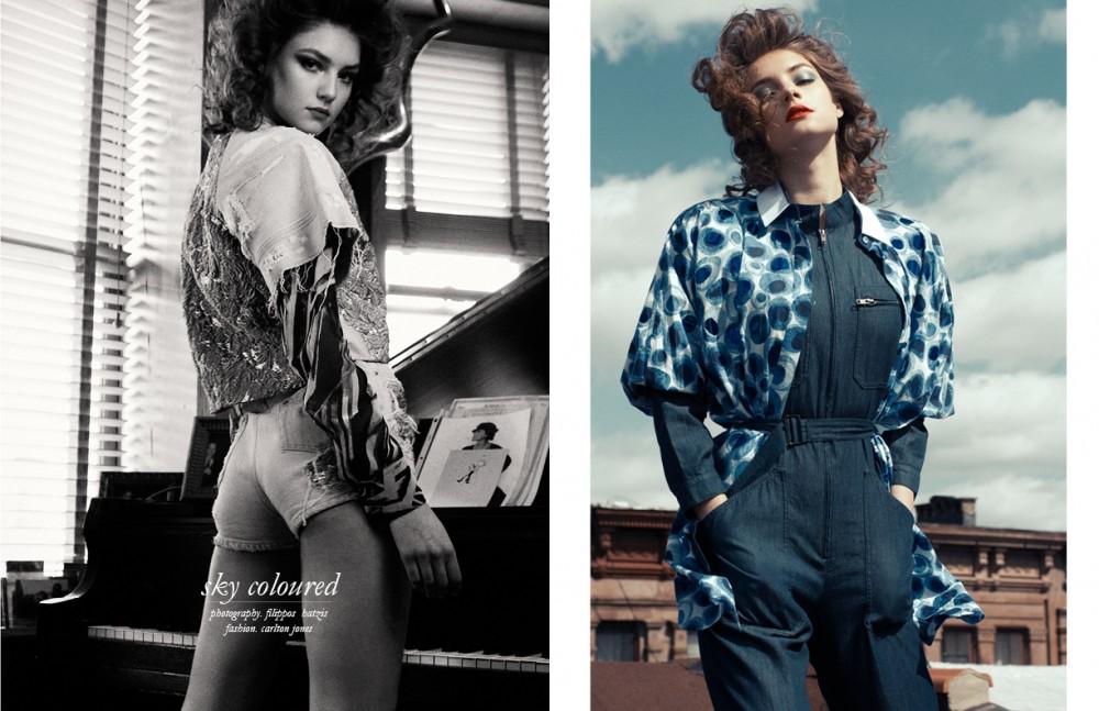 Crop-top and short / Roberto Cavalli Blouse / Missoni Opposite Jumper / Agnes B. Blouse / Prada