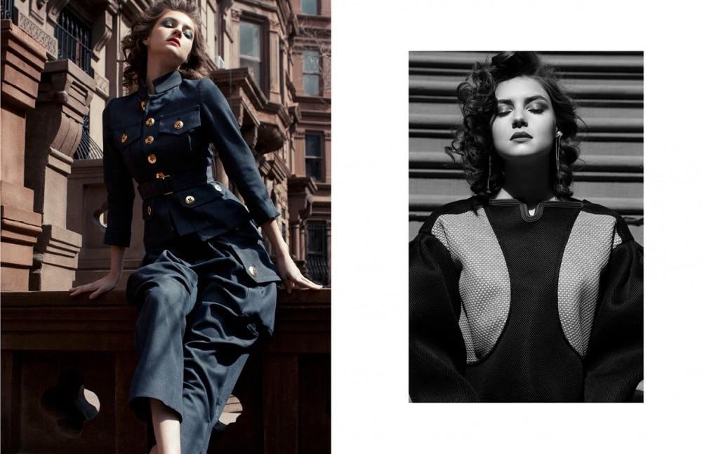 Jacket and pant / Marc Jacobs Opposite Top / Kenzo Earrings / Cornelia Web