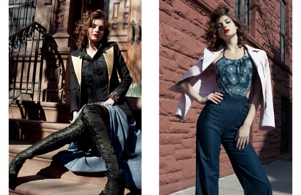 Jacket / Celine Jumpsuit / Anna Sui Ring / Ericson Beaman Opposite Jacket / Saint Laurent Paris Vest / Dior Dress / Stella McCartney Boots / Af. Vandervorst Bracelet / Ericson Beaman