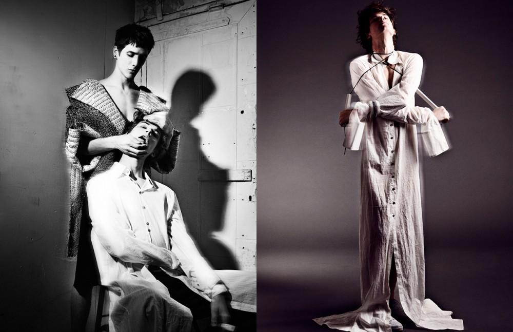 Coat / Dan Natale Shirt / Dan Natale Trousers / Michael Yip Opposite Total look / Dan Natale