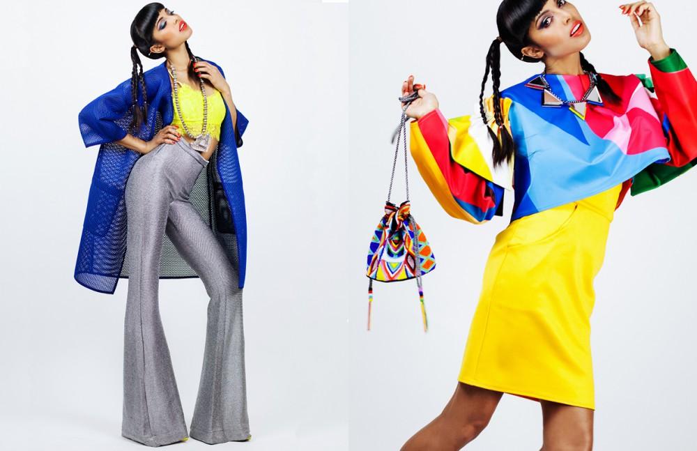Left Jacket  / Baum und Pferdgarten  Top / Missy Empire Necklace / Stylist's own  Trousers / Panda Parker Right Top / Minnan Hui  Dress / Oh My Love Bag / Aspiga  Necklace / H&M