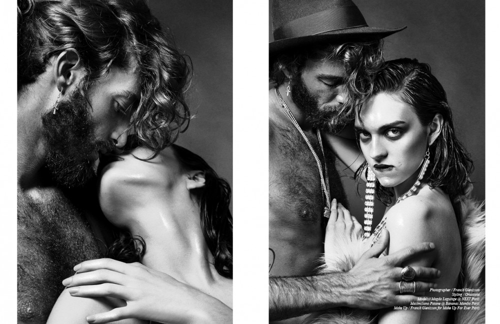 Magda wears Chromium breeches / Forever Glam Vintage fur / Guy Laroche Maximiliano wears Hat / Borsalino Earrings / Forever Glam