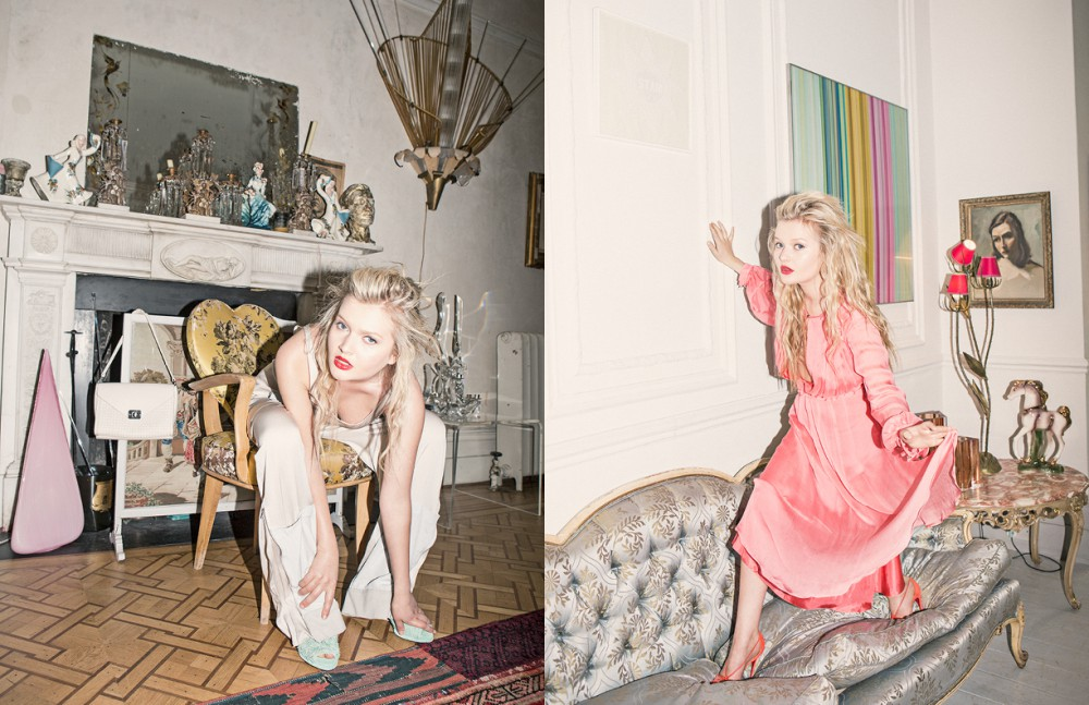 Jumpsuit / Stella McCartney Shoes / Amelie Pichard Bag / Mulberry Opposite Dress/ Matthew Williamson Shoes/ Christian Louboutin