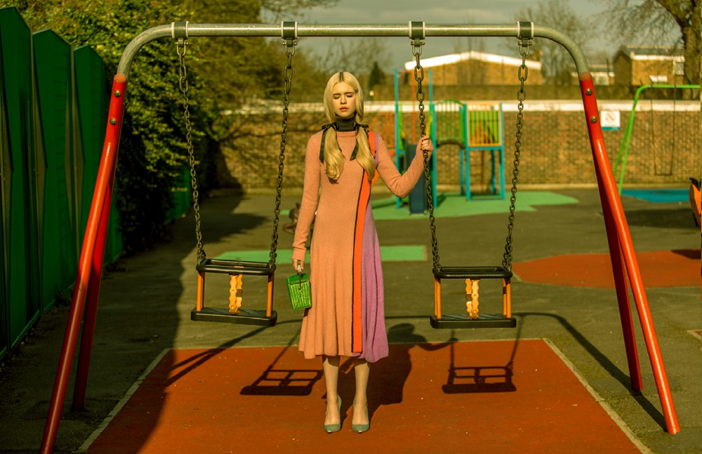 Rollneck / John Smedley Dress / Roksanda Ilincic Bag / Ermanno Scervinno Shoes / Sophia Webster