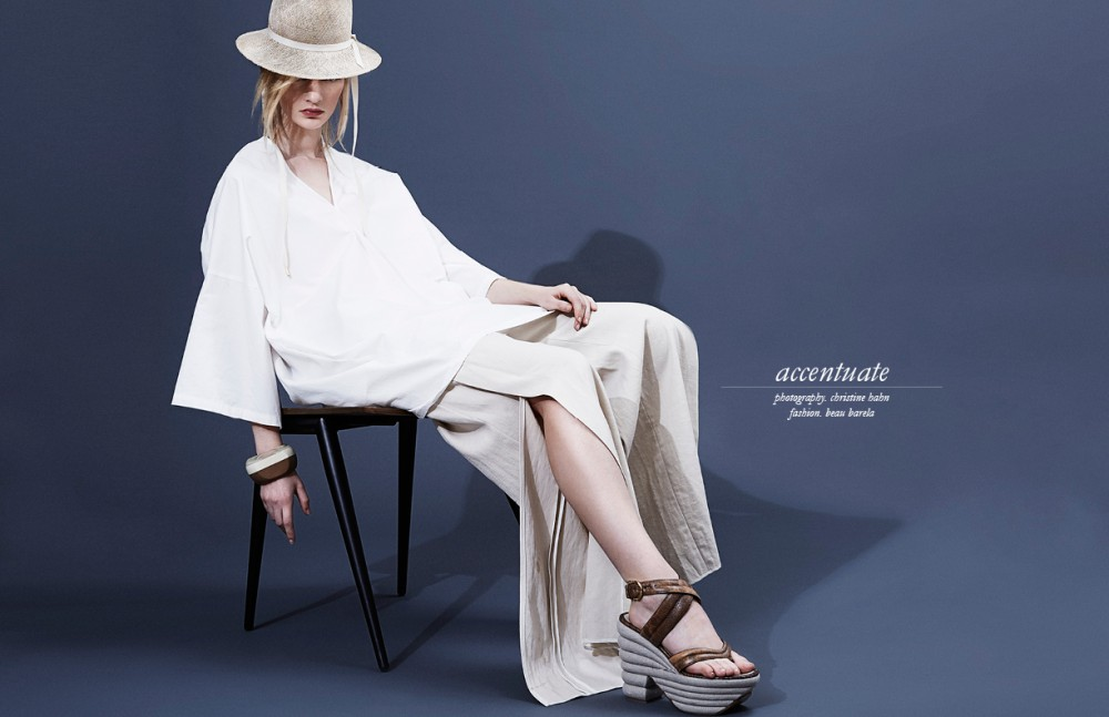 Shirt / Et Bantine Trousers / Maiyet Shoes / Salvatore Ferragamo Hat / Faeth Millinery