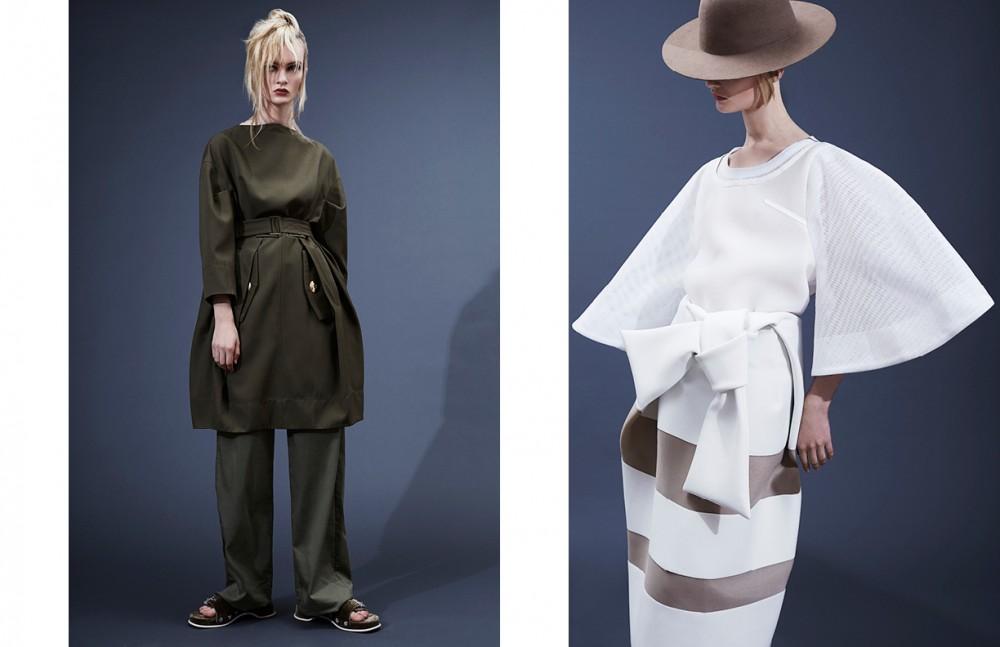 Dress & sandals / Marc Jacobs Trousers / Femme D'Armes Opposite Skirt & top / Andrea Jiapei Li Hat / Étude Studio