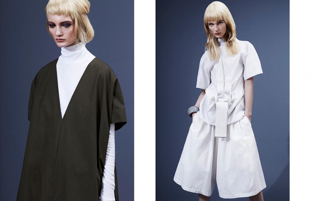 Dress / A.Detacher Top / Acne Studios Opposite Top / Karolina Zmarlak Shorts / Assembly New York Cuff / Dinosaur Designs