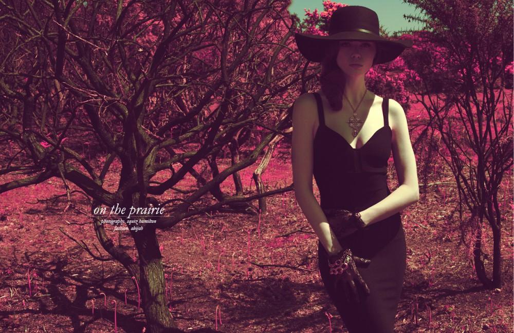 Dress / Stylist's own Hat / Maison Michel Gloves / Dolce & Gabbana Jewellery / Stylist's own