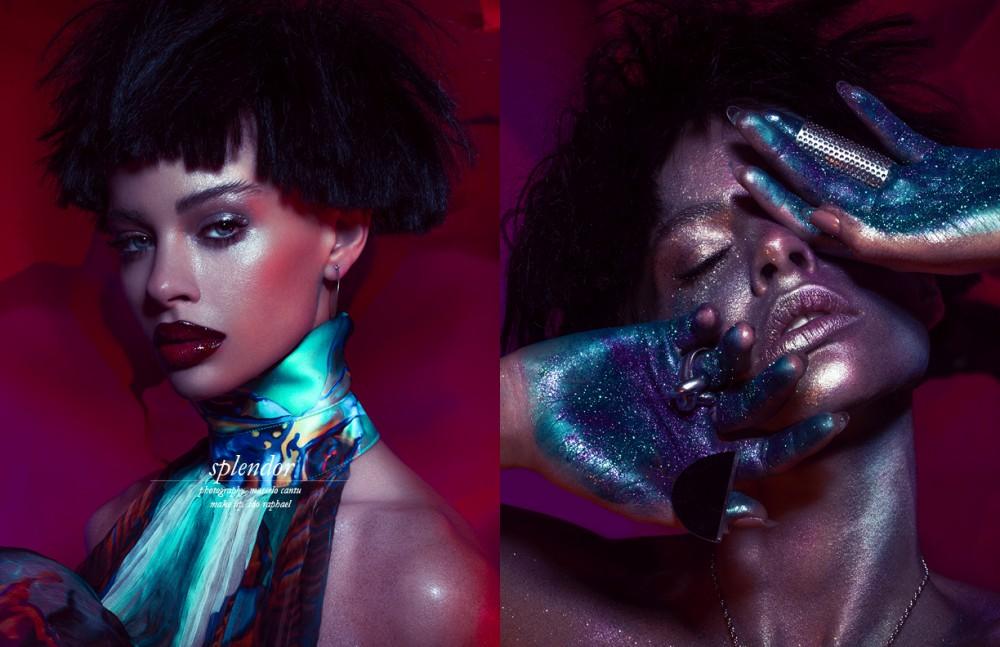 Benefit/Beyond black Mascara Opposite MAC Cosmetics/Fancy Glitters