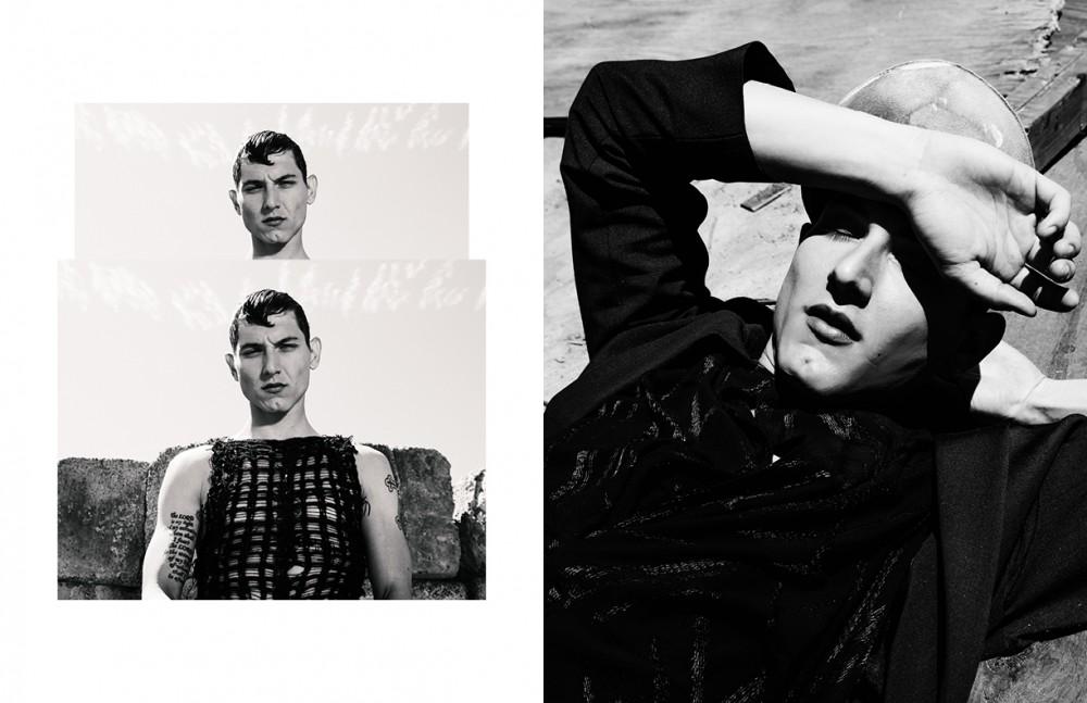 Tank / Cedric Jacquemyn Opposite Hat / Reinhard Plank Blazer / Strateas Carlucci Dress / Alexandre Plokhov