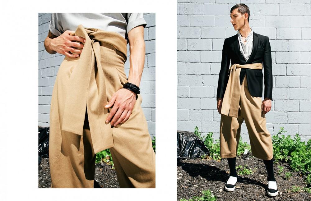 Shirt / Judson Harmon Culottes / Jean Pierre Braganza Cuff / Vivienne Westwood Shoes / Rombaut