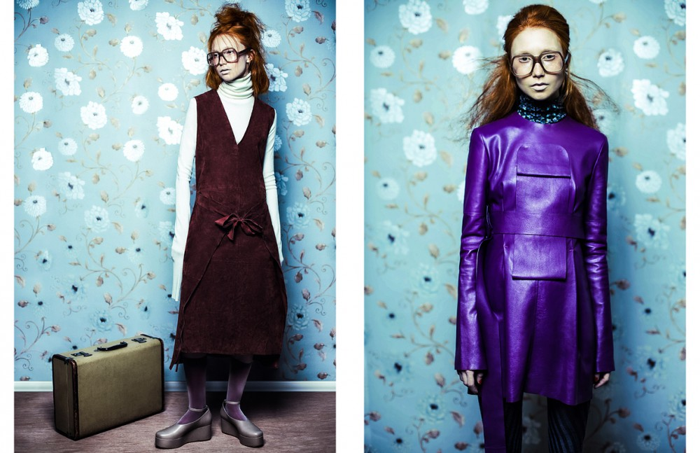 Dress & roll neck / Joseph Glasses / Cutler and Gross Shoes / Tibi Socks & tights / Falke Opposite Dress / J.W.Anderson Knee high socks / Falke