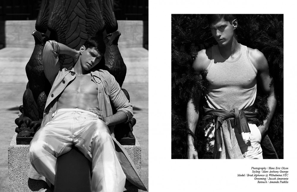 Coat / Salvatore Ferragamo Trousers / Siki Im Opposite Top / Ermenegildo Zegna Couture Blazer (tied) & trousers / Siki Im Belt / Michael Bastian Scarf / Stylist's own
