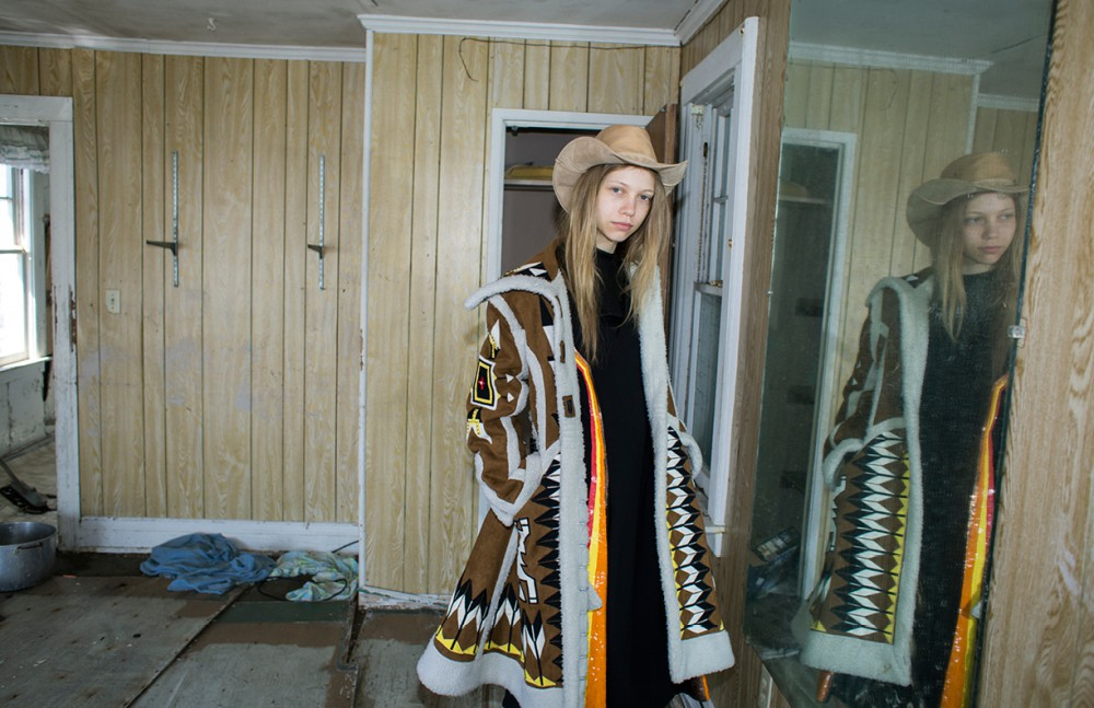 Coat / KTZ Dress / Creatures of the Wind Turtleneck / KTZ Boots / Daniele Michetti Hat / Space Cowboy