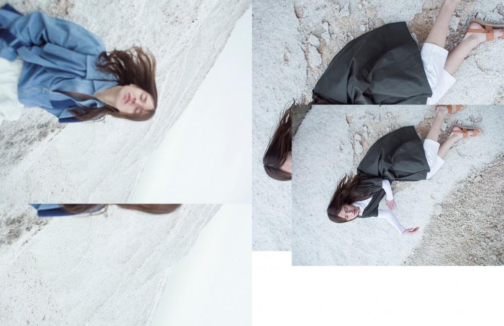 Coat & shirt / KOONHOR Shorts / Assembly New York Opposite Dress / A Détacher Top / Jackie Hong Trousers / 3.1 Phillip Lim pants Sandals / Samuji