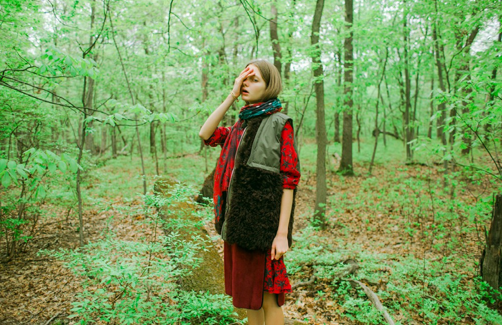 Green vest / Sea Maroon vest / Creatures of the Wind Dress / Zadig et Voltaire Scarf / Zadig et Voltaire Shoes / The Kooples Jewelry / Bisjoux