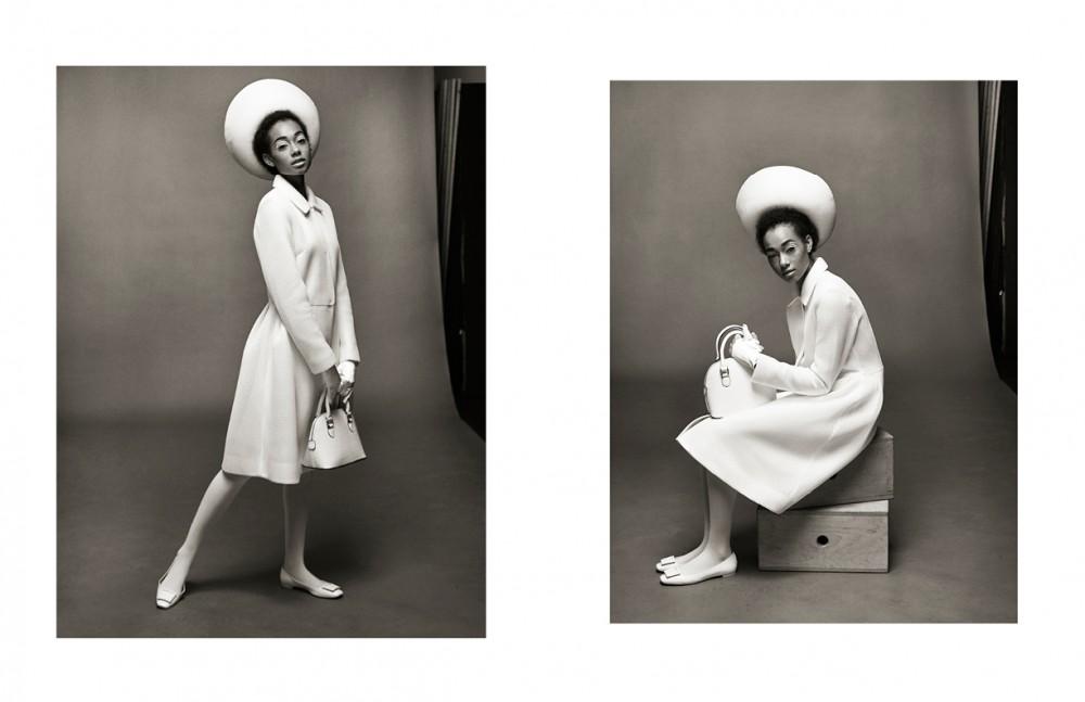 Hat / Tierre Taylor Coat / Pink Tartan Bag / Aldo Tights / American Apparel Shoes / Browns