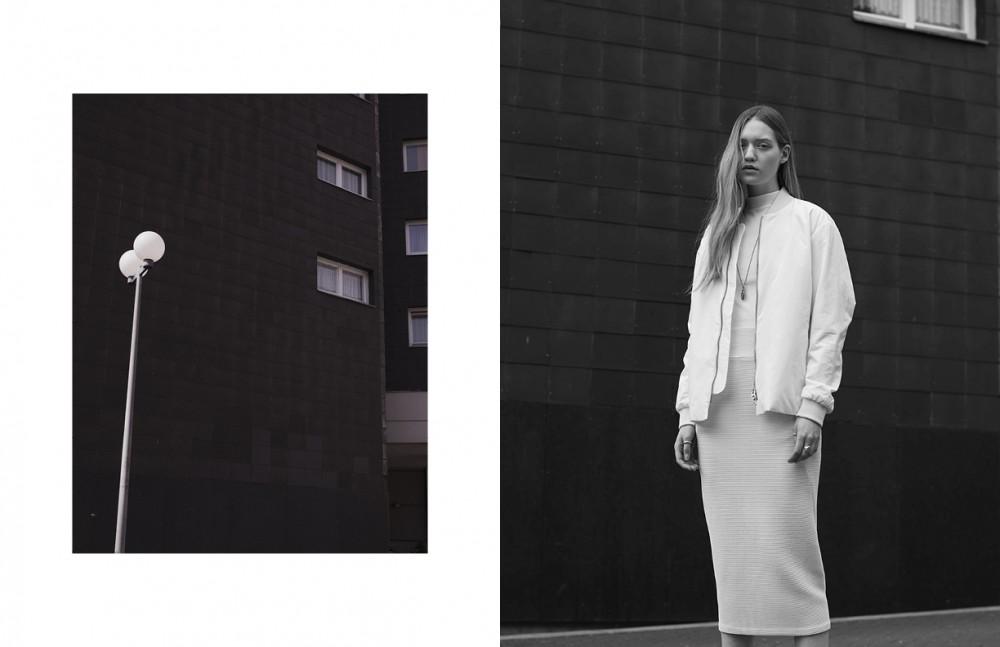 Jacket / Acne Studios Top & socks / American Apparel Skirt / Henrik Vibskov Shoes / Reebok Necklace & ring/ Werkstatt Muenchen