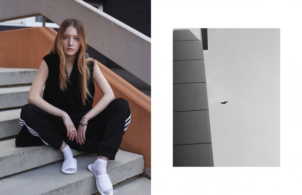 Sweatpants / Adidas Originals Vest / Dimitri Socks / American Apparel Jewellery / Werkstatt Muenchen