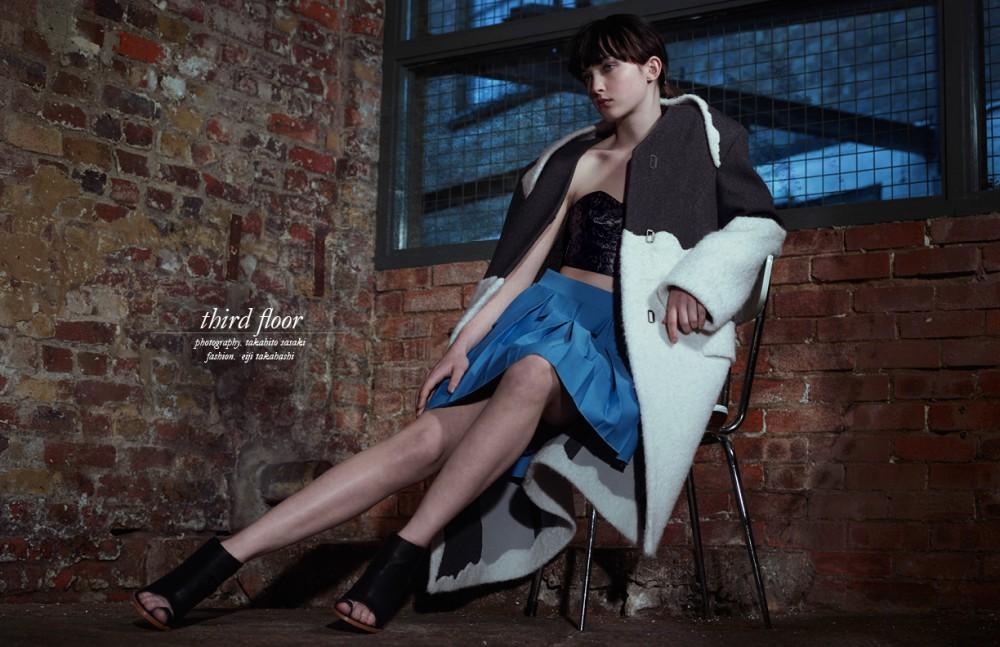 Coat / Homo Consommatus Bra / Toga Skirt / Georgia Hardinge Shoes / Loeffler Randall