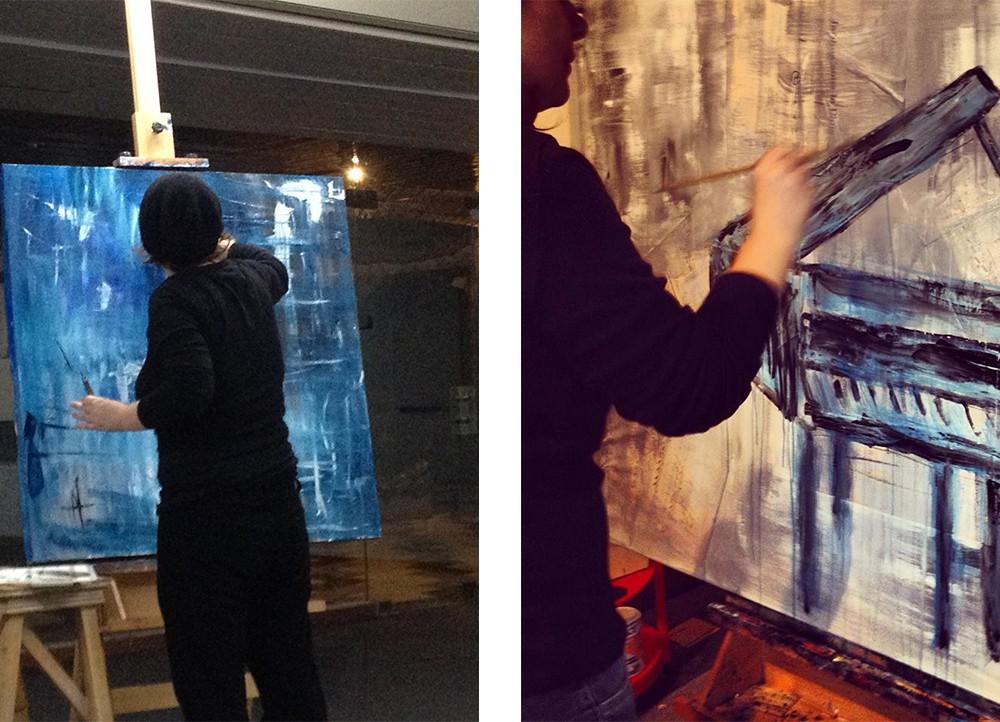 Natália Gromicho Live Painting
