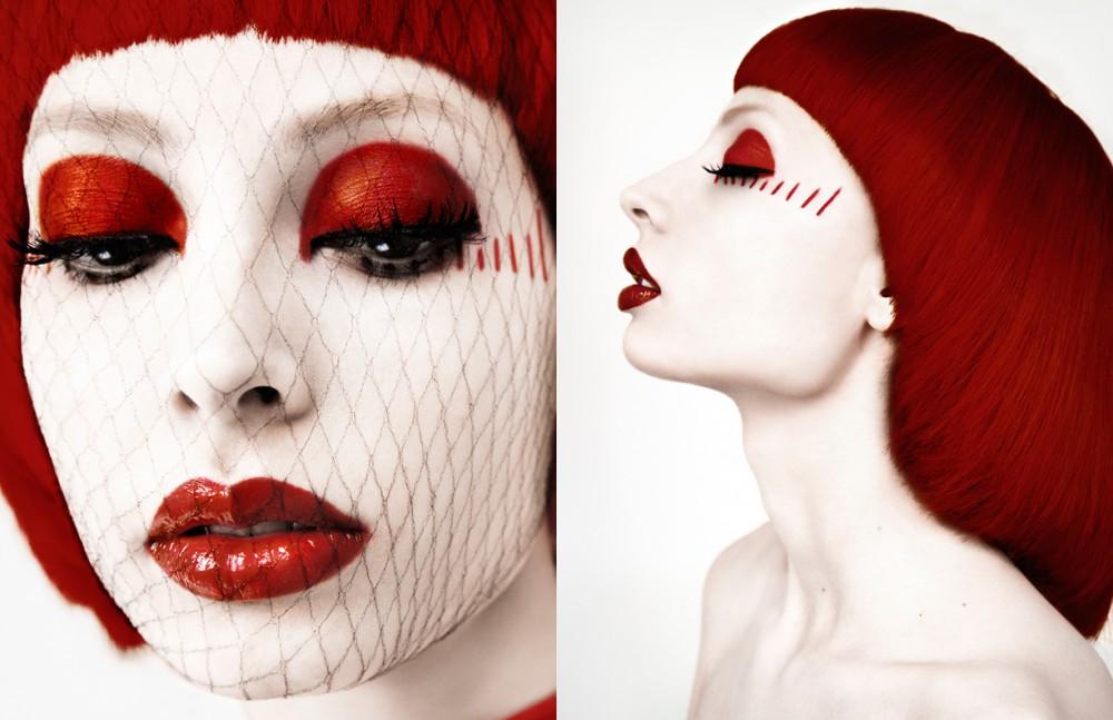 MAKE UP FOR EVER Cream Pot Color Eye Red  Black Mascara Lipstick