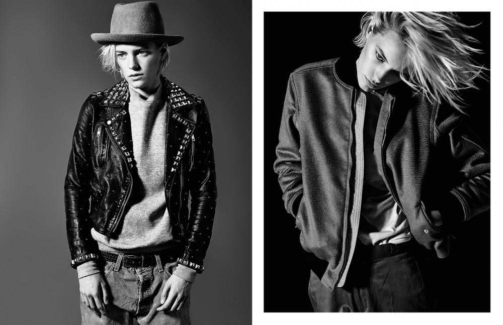 Jacket / Diesel Sweatshirt / Acne Studios Jeans / Vintage Levi's Hat / Anda & Masha Opposite Sweater / Brioni Jacket / rag & bone Ttousers / H&M