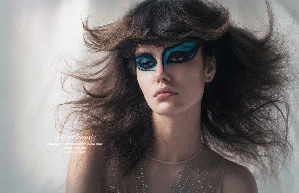MAC Cosmetics Acrylic face paint, Cyan Body / I.D. Sarrieri