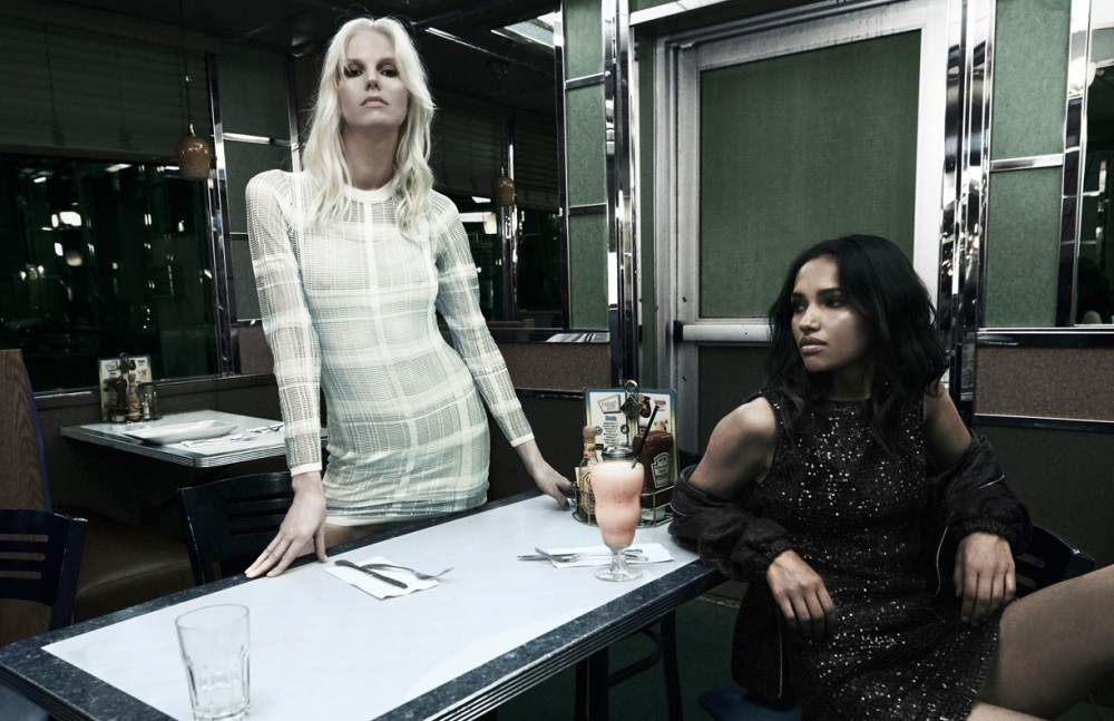 Rag wears Dress / Alexander Wang Camila wears Jacket / Sandro Dress / Carolina Sarria