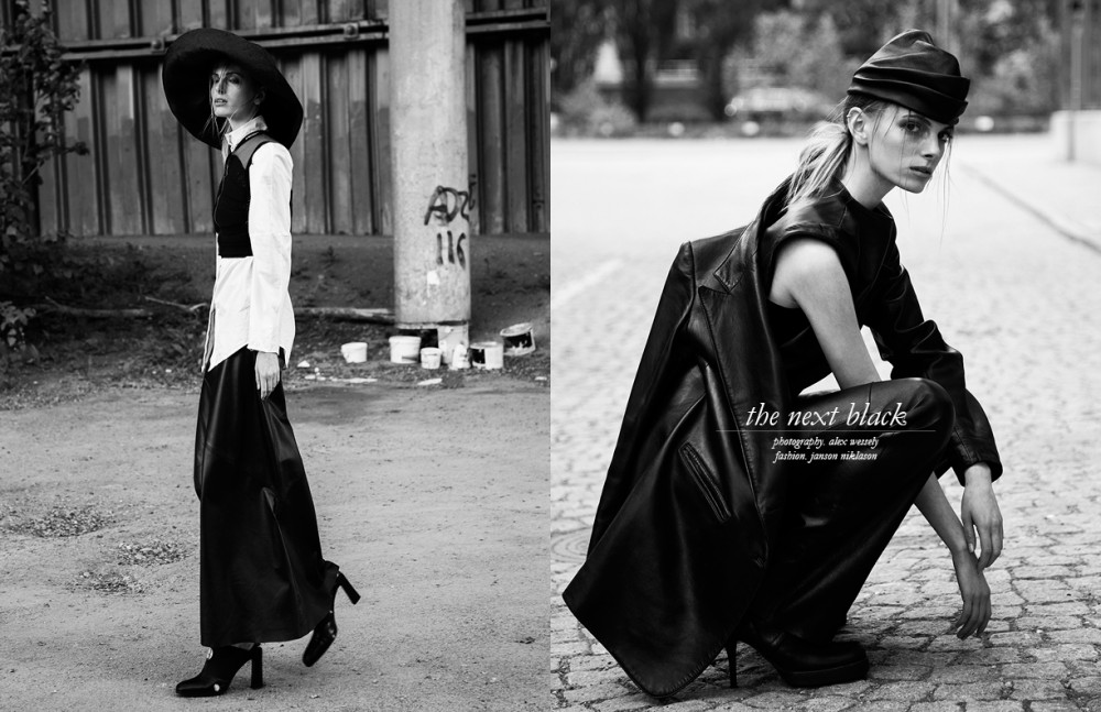 Top / Stylist's own Blazer / Ann Demulemeester Trousers / Stylist's own Shoes / Rick Owens Hat / Stylist's own Opposite Vest / Stylist's own Shirt / Isabel Elfast Skirt / Vintage Ann Demulemeester Shoes / Karl Lagerfeld Hat / Stylist's own Sunglasses / Vintage Ray Bahn