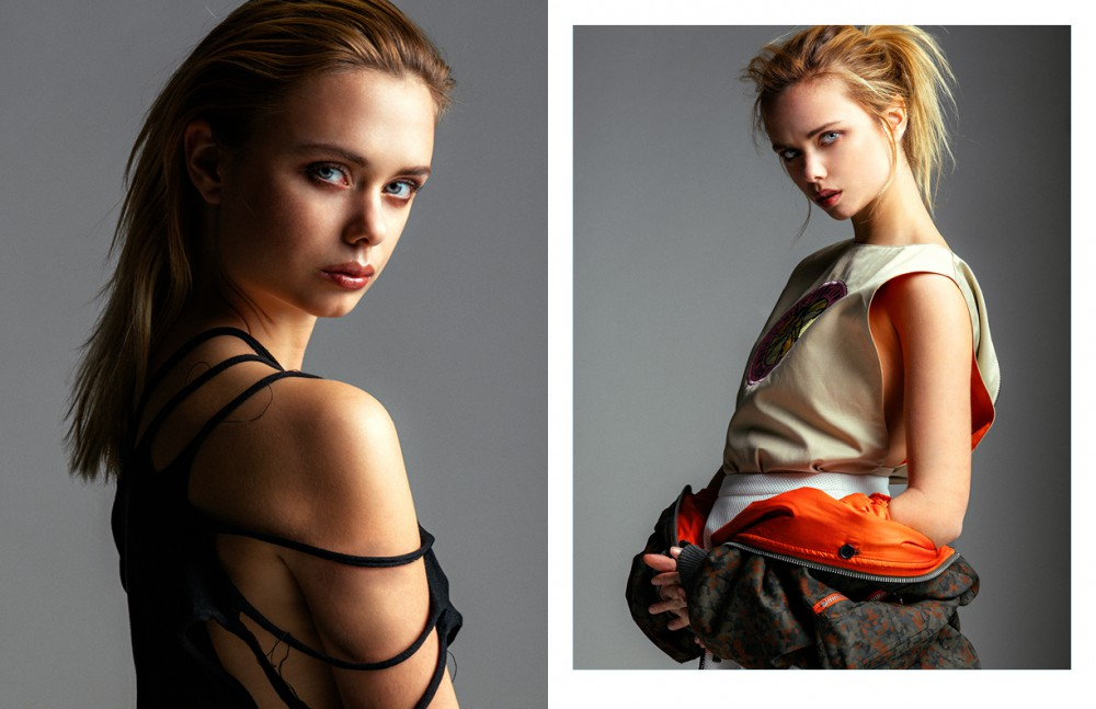 Jacket / Adidas by Jeremy Scott Top / Michael Sonntag Opposite Top & Bomber Jacket / Komakino Skirt / Hien Le