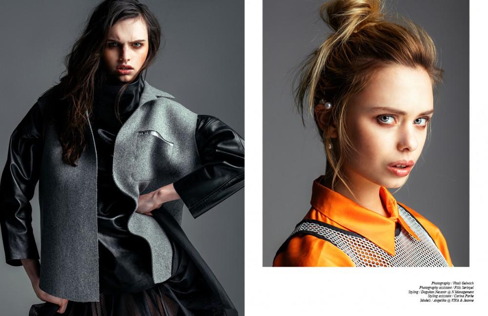 Sweater / Lake Via Oukan Berlin Vest / Bobby Kolade Skirt / Y-3 Opposite Dress / Hien Le Mesh dress / Tim Labenda Earpiece / Bond Hardware