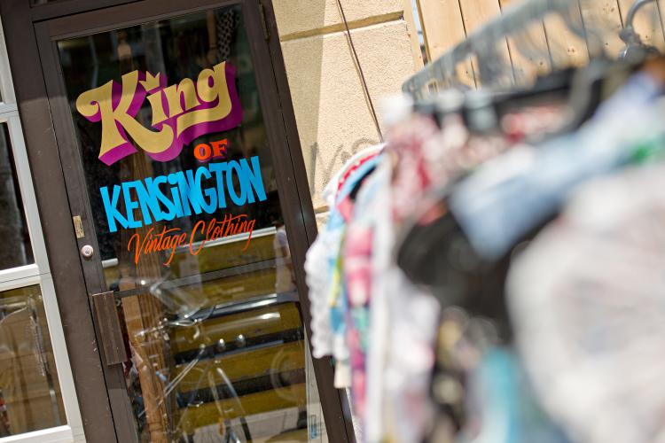 A Vintage clothes shop in  the Kensington neighbourhood. Copyright © 2012 by Clifton Li. All Rights Reserved. Clifton Li
