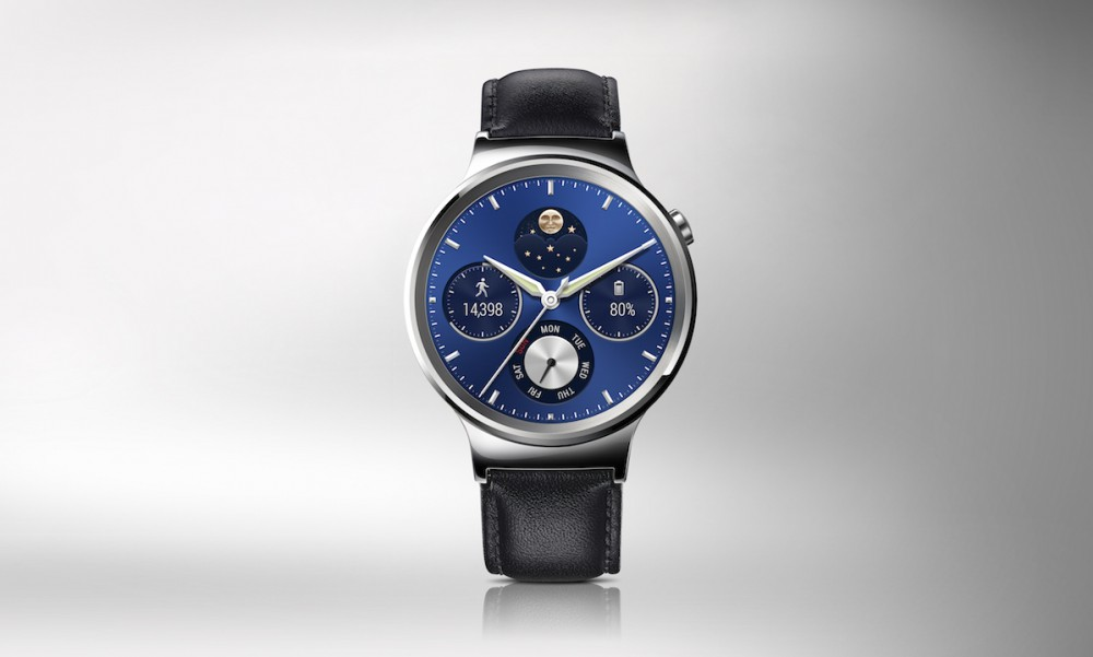 Huawei Watch-HQ photos-Front-Silver with leather strap-JPG-20150710