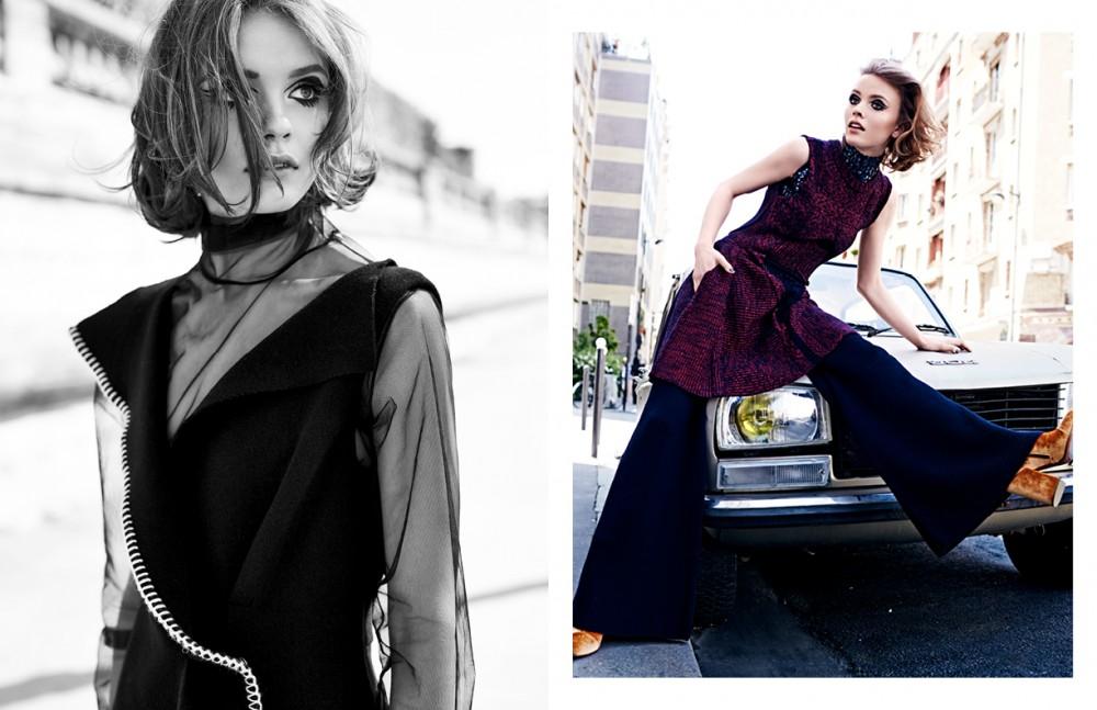 Dress / Sportmax Turtleneck / Weekday Opposite Dress / Christian Dior Pants / Joseph Shoes / Dries Van Noten